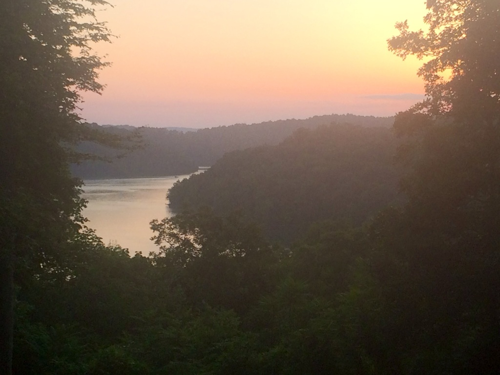 Watched the sunset over the lake tonight.