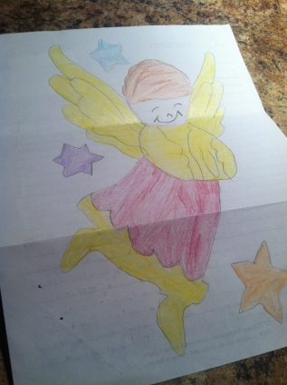 Valeria's mom's picture she drew for us.